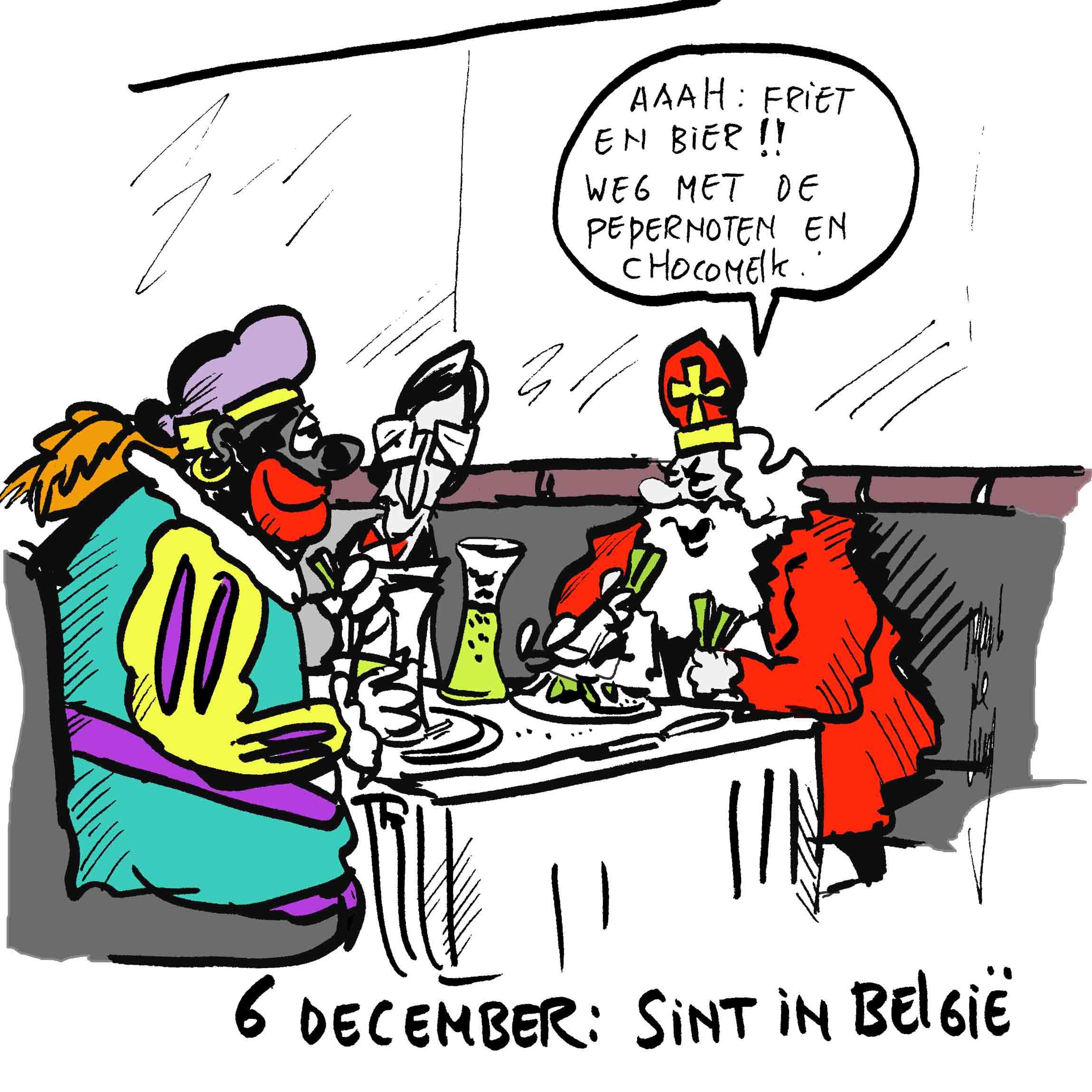 Sint en Piet bij de buren, sociale media 2014