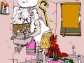 Sint, illustratie gemaakt op de cartoon school