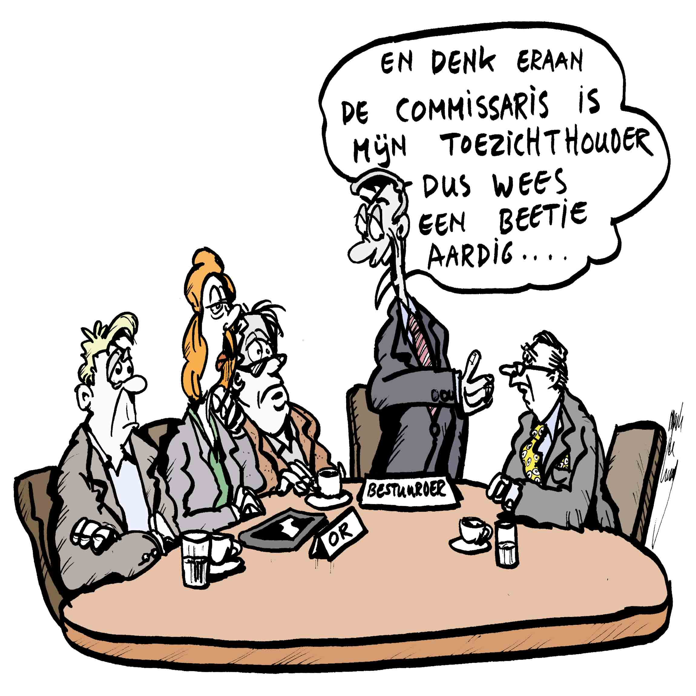 Commissarissen cartoon OR informatie