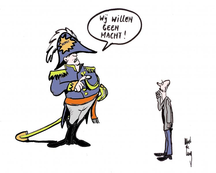 Macht, cartoon gebruikt voor Rijkswaterstaat